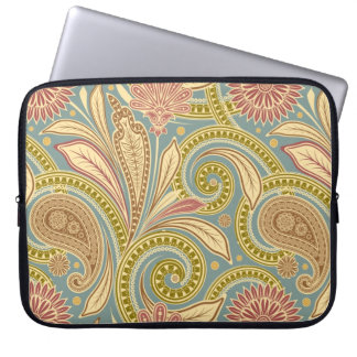 Paisley design laptop sleeve