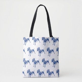 Paisley Dog No. 1 | Blue | Tote Bag
