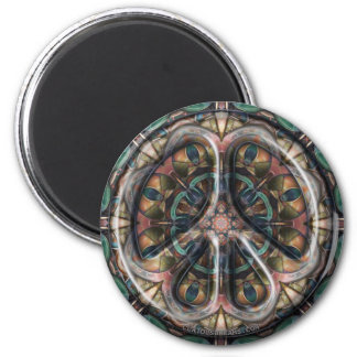 Paisley Dogs Peace 6 Cm Round Magnet