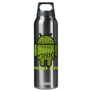 Paisley Doodle Character for the Android™ robot 0.5 Litre Insulated SIGG Thermos Water Bottle