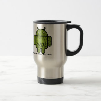 Paisley Doodle Character for the Android™ robot Stainless Steel Travel Mug