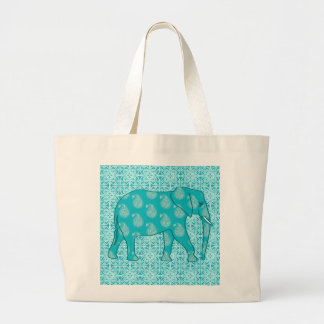 Paisley elephant - turquoise and aqua bag