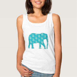 Paisley elephant - turquoise and aqua singlet