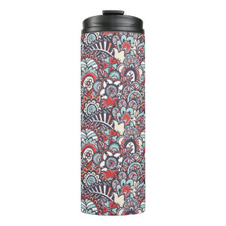 Paisley Floral Doodle Pattern Thermal Tumbler