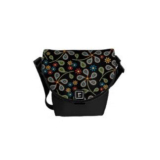 Paisley Floral Print Messenger Bag