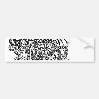 paisley flowers bumper sticker
