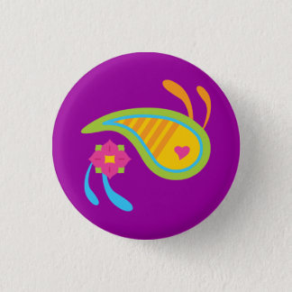 Paisley Fun 3 Cm Round Badge
