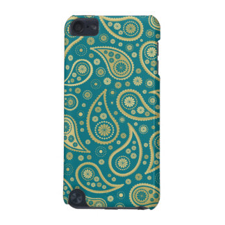 Paisley Funky Print in Teal & Golds iPod Touch (5th Generation) Cover