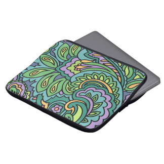 Paisley Green Laptop Sleeve