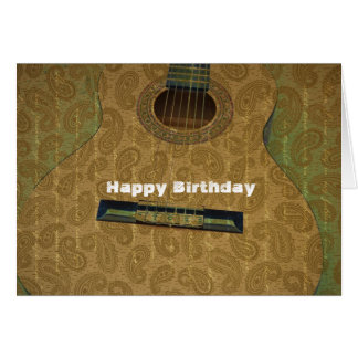 Paisley Guitar Card