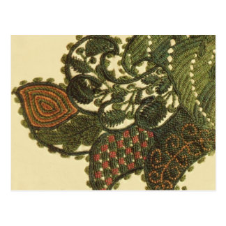 Paisley In Green And Beige Postcard