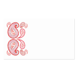 Paisley in orange and pink - middle eastern design business cards