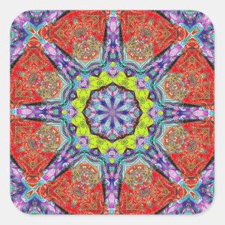 paisley kliedoscope square sticker