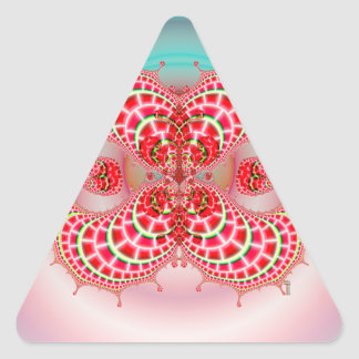 Paisley Melons Merging  Triangle Stickers Triangle Sticker