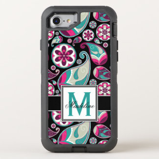 Paisley Monogram, Mobile OtterBox Defender iPhone 8/7 Case