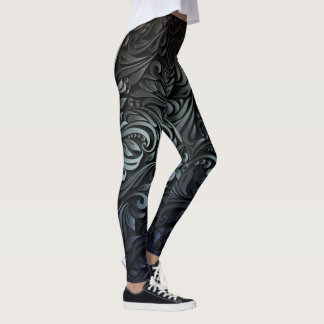 paisley ombre swirl womens leggings
