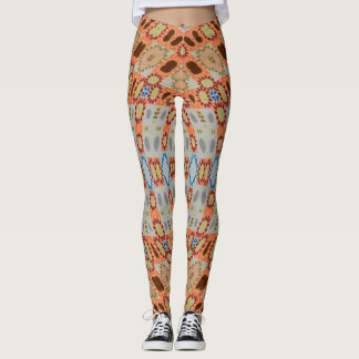 Paisley Papaya Salad Leggings