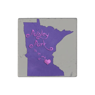 Paisley Park is in my heart Stone Magnet