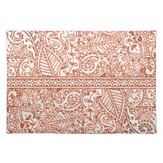 Paisley Passion - Orange (Henna) Placemat
