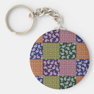 Paisley Patchwork Pattern Keychain