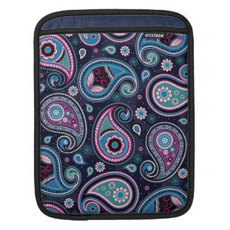 Paisley Patern blue, teal, violet elegant iPad Sleeve
