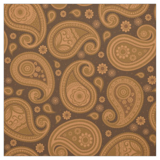 Paisley pattern Brown elegant Fabric