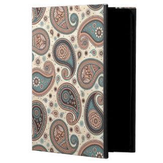 Paisley pattern brown teal beige elegant powis iPad air 2 case