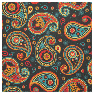 Paisley pattern colorful fabric
