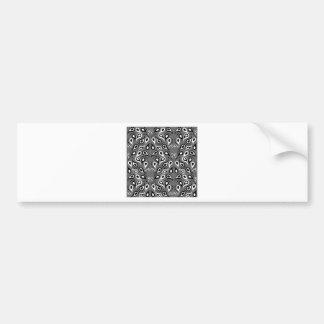 Paisley Pattern Design Print Black Bumper Sticker