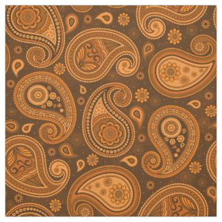 Paisley pattern elegant brown color fabric