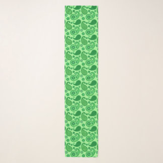 Paisley Pattern, Jade and Emerald Green Scarf