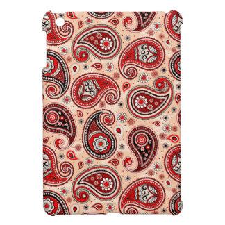 Paisley pattern maroon red beige elegant iPad mini cases