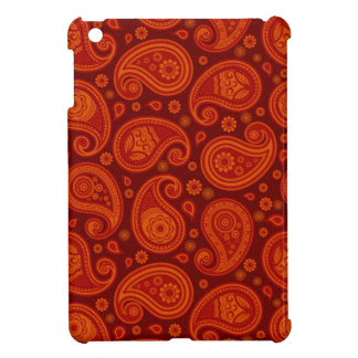 Paisley pattern maroon red elegant iPad mini cover