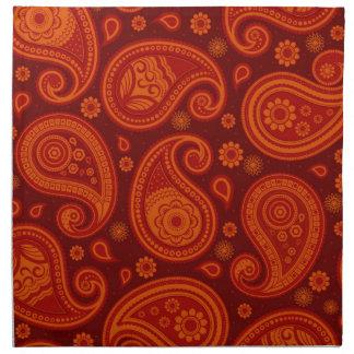 Paisley pattern maroon red elegant napkin