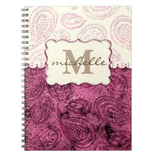 Paisley Pattern Monogram Notebooks