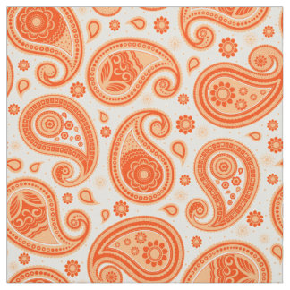 Paisley pattern orange color fabric