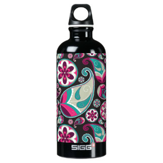 Paisley Pattern Pink and Teal SIGG Traveller 0.6L Water Bottle
