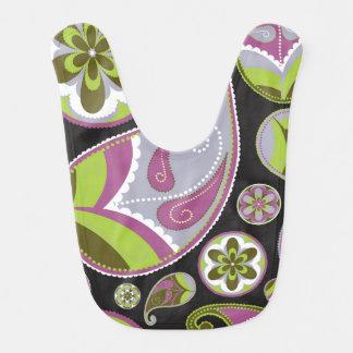 Paisley Pattern Purple Green Bib