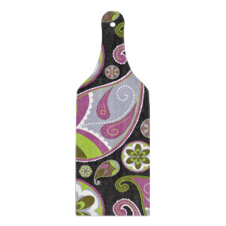 Paisley Pattern Purple Green Cutting Board