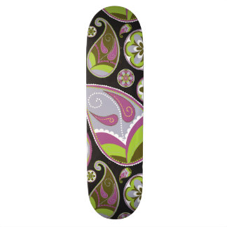 Paisley Pattern Purple Green Skateboards