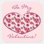 Paisley Pattern Valentine Heart