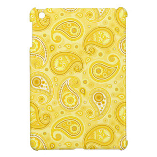 Paisley pattern yellow elegant iPad mini covers