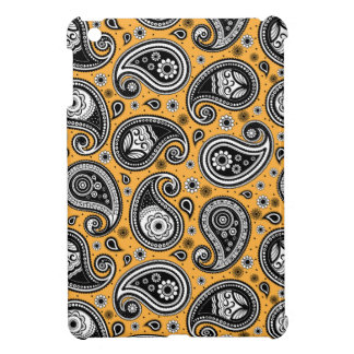 Paisley pattern yellow, white and black elegant iPad mini case