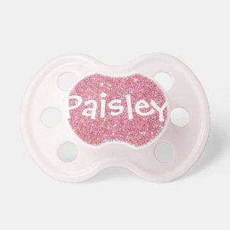 """Paisley"" Personalized Name Glitter Pacifier"