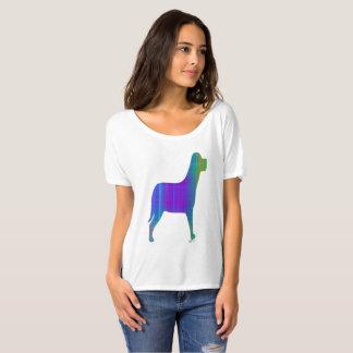 Paisley Plaid Dog Silhouette T-Shirt