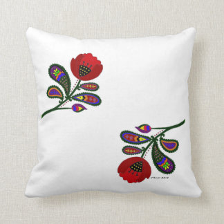 Paisley Poppy Ukrainian Folk Art Cushion