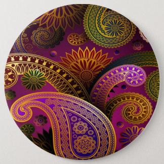 Paisley Purple 6 Cm Round Badge