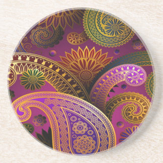 Paisley Purple Coaster
