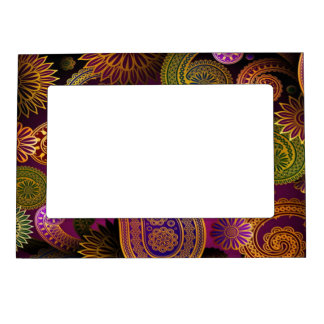 Paisley Purple Magnetic Picture Frame