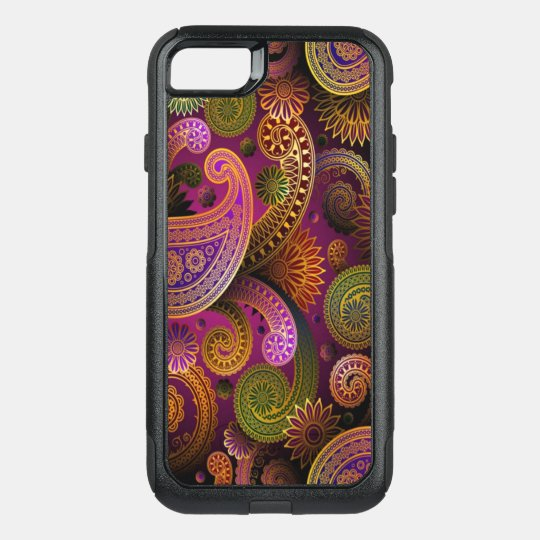 Paisley Purple OtterBox Commuter iPhone 8/7 Case